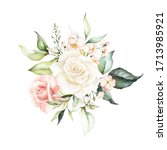 Watercolor Floral Bouquet  ...