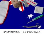Australia Flag With First Aid...