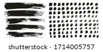flat paint brush thin lines  ... | Shutterstock .eps vector #1714005757