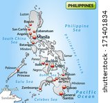 map of philippines as an... | Shutterstock . vector #171401834