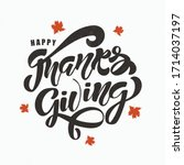 Happy Thanksgiving Lettering...