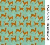 vector deer pattern | Shutterstock .eps vector #171404921