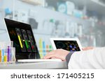 a chemist is analyzing the... | Shutterstock . vector #171405215