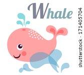 cute animal alphabet for abc... | Shutterstock .eps vector #171405704