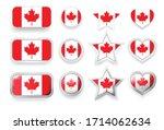 set of canada vector labels... | Shutterstock .eps vector #1714062634