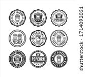 badge stamp popcorn design... | Shutterstock .eps vector #1714092031