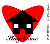stay at home  stay safe. write... | Shutterstock .eps vector #1714101637