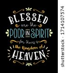 blessed are the poor in spirit  ... | Shutterstock .eps vector #1714107574