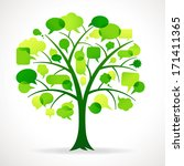 vector illustration of a green... | Shutterstock .eps vector #171411365