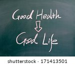 """good health and good life""... 