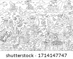 coloring page for kids... | Shutterstock .eps vector #1714147747