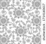 traditional indian paisley...   Shutterstock .eps vector #1714160617