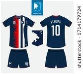 soccer jersey or football kit...   Shutterstock .eps vector #1714179724