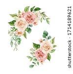 little set of watercolor... | Shutterstock . vector #1714189621