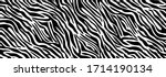 trendy zebra skin pattern... | Shutterstock .eps vector #1714190134