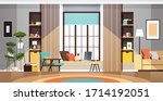 modern empty living room... | Shutterstock .eps vector #1714192051
