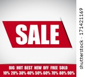 sale lable simple design | Shutterstock .eps vector #171421169
