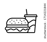 hamburger   fast food icon... | Shutterstock .eps vector #1714221844