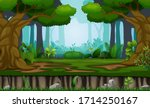 many trees on the forest...   Shutterstock . vector #1714250167