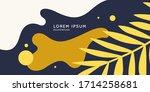 summer poster in a modern style....   Shutterstock .eps vector #1714258681