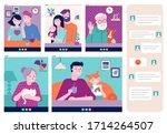family  grandparents  children  ... | Shutterstock .eps vector #1714264507
