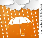 clouds with white umbrella and... | Shutterstock . vector #171426749