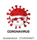 coronavirus covid 19 virus cell.... | Shutterstock .eps vector #1714314427