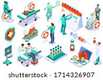 clinic of medical health  woman ... | Shutterstock .eps vector #1714326907