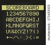 scoreboard digital font | Shutterstock .eps vector #171433325