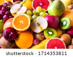 Various assorted juicy fruits ...