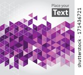 abstract cube mosaic background ... | Shutterstock .eps vector #171436721