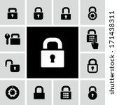 lock icons  | Shutterstock .eps vector #171438311