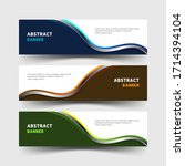 banner design set with wavy... | Shutterstock .eps vector #1714394104