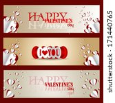 happy valentines day and... | Shutterstock .eps vector #171440765