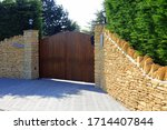 A Wooden Panel Security Gate...