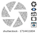 Linear Collage Shutter Icon...