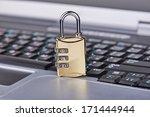 closeup of a gold combination... | Shutterstock . vector #171444944