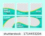 social media banner template.... | Shutterstock .eps vector #1714453204