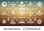 summer labels and badges design ... | Shutterstock .eps vector #1714463614