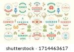 summer labels and badges design ... | Shutterstock .eps vector #1714463617
