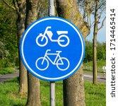 Dutch Road Sign Obligated Bike...