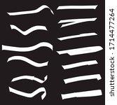 set of handmade  hand drawn...   Shutterstock .eps vector #1714477264