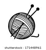 Stock vector yarn and needles 171448961