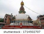 thamel kathmandu nepal   23 oct ... | Shutterstock . vector #1714502707