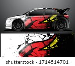 rally car decal graphic wrap... | Shutterstock .eps vector #1714514701