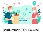 delivery website banner in flat ...   Shutterstock .eps vector #1714532851