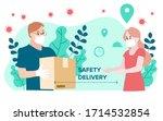 delivery website banner in flat ...   Shutterstock .eps vector #1714532854