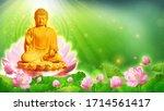 3d Illustration Buddha Sat In A ...