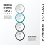 gray infographic with business... | Shutterstock .eps vector #1714562221