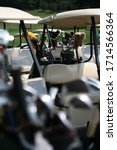 golf clubs in bag with driver... | Shutterstock . vector #1714566364